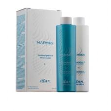 Осветляющее и увлажняющее масло для волос с маслом моной де Таити. 200 + 200 ml