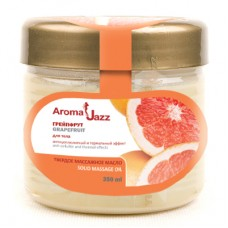 Aroma Jazz - Твердое массажное масло для тела Грейпфрут 350 мл.