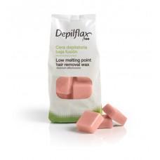 """Depilflax 100 - Горячий воск для эпиляции, в дисках """"Розовый"""" Extra (1000 гр)"""